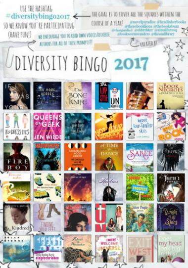 Filled out Diversity Bingo 2017 sheet
